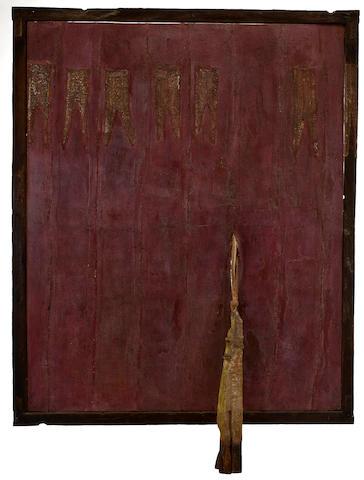 (n/a) Viyé  Diba (Senegalese, born 1952) Enchappement II 67 1/4 x 56in (170.8 x 142.2cm)