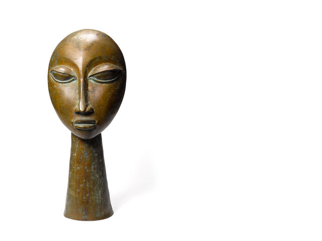 Ben Osawe (Nigerian, born 1931) Head 25 9/16in (65cm) high