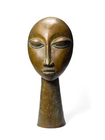 Ben Osawe (Nigerian, born 1931) Head 25 9/16in (65cm) high