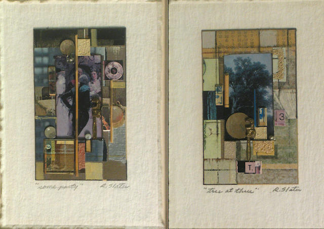Roderick Slater (American, born 1937) Some party; Tree at three (2) each 6 3/4 x 4 1/2in