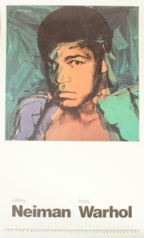 (n/a) Andy Warhol (American, 1928-1987); and LeRoy Neiman (American, born 1926) Muhammad Ali Poster;