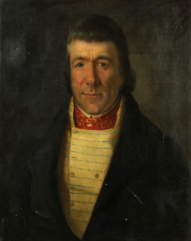 French School, 19th Century A portrait of a gentleman 25 1/2 x 21in