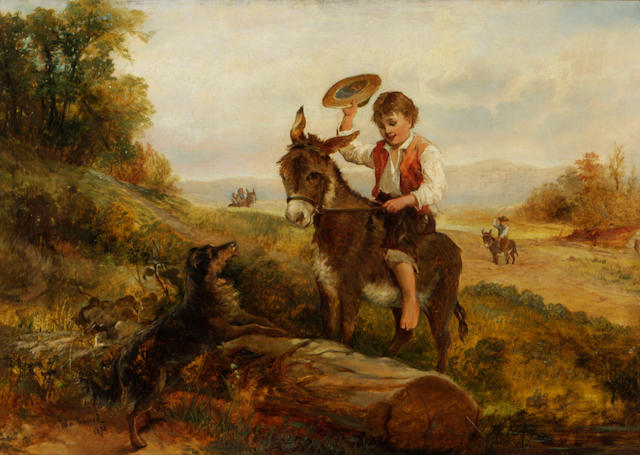 John Inward (19th century) The donkey ride 20 x 28in