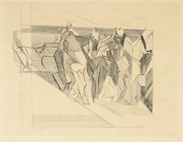 Jacques Villon (French, 1875-1963); La Faucheuse ou Moissons; Jardin à La Française; (2)