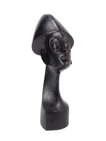 Ben Osawe (Nigerian, born 1931) Destiny 22 1/16in (56cm) high