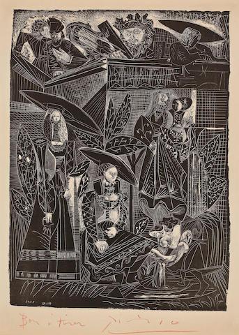 Pablo Picasso (Spanish, 1881-1973); David and Bethsabee;