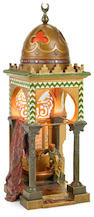 A Franz Bergman cold painted bronze Mosque lamp