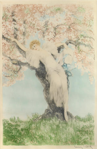 Louis Icart (French, 1888-1950); Spring Blossoms;