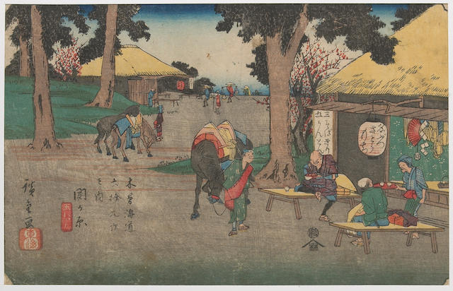 Hiroshige (1797-1858) and Eisen (1790-1848) Six woodblock prints