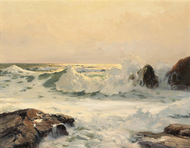 Robert Wood (American/British, 1889-1979) Song of the surf 28 x 36in