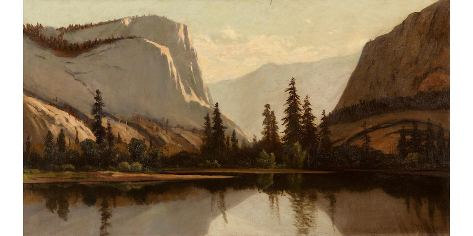 Frederick Ferdinand Schafer (German/American, 1839-1927) Yosemite from the Merced 20 x 36in