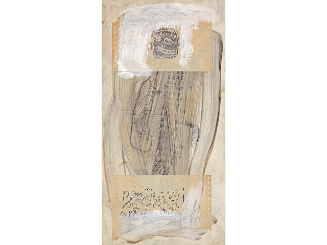 Jean-Michel Basquiat (American, 1960-1988) Untitled, 1981 23 3/4 x 12in (60.3 x 30.5cm)