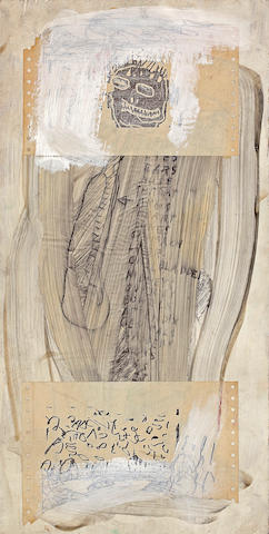 (n/a) Jean-Michel Basquiat (American, 1960-1988) Untitled, 1981 23 3/4 x 12in (60.3 x 30.5cm)