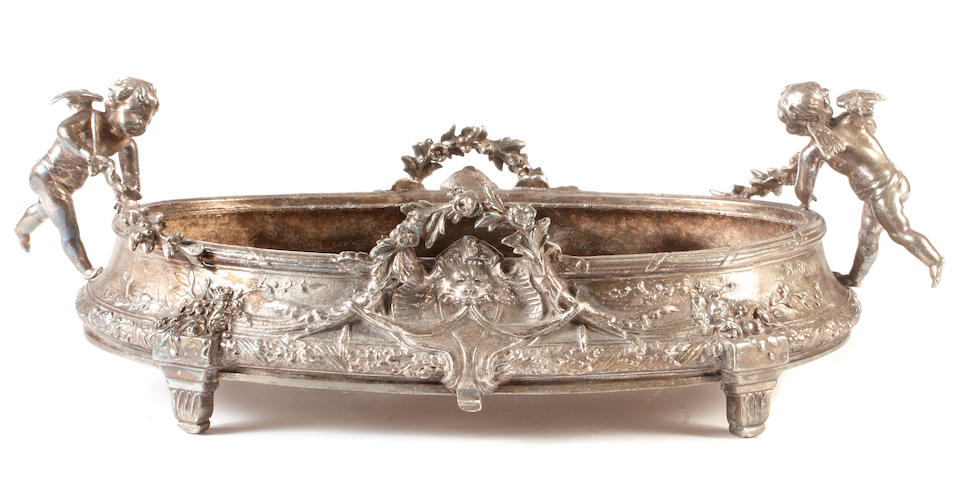 A Belle Epoque silverplated table centerpiece