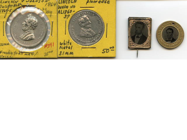 Miscellaneous Group of Abraham Lincoln Pins and Memorabilia