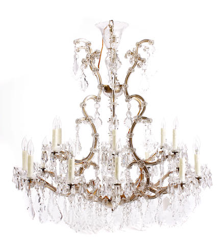 A Louis XV style cut glass chandelier