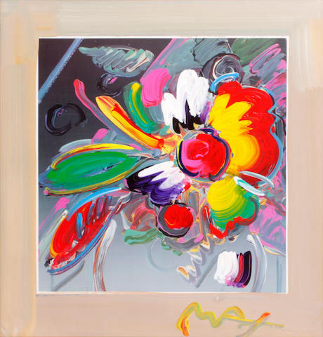 Peter Max (German/American, born 1937) NY Flower Show, 2001 sight 19 3/4 x 19in
