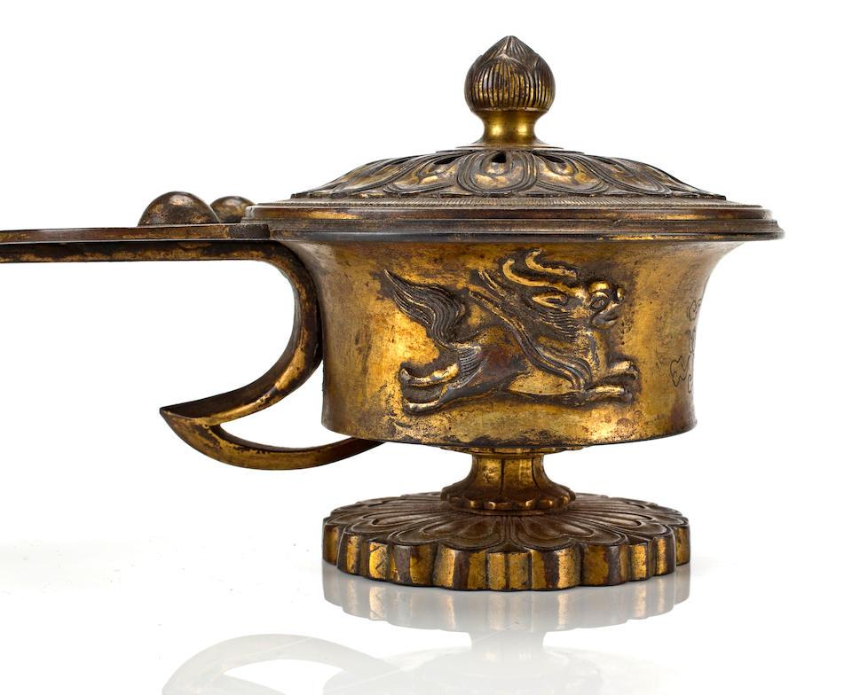 A GILT-BRONZE RITUAL CENSOR (EGORO) 13th century
