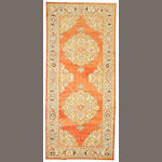 Pair of Oushak runners West Anatolia, size approximately 4ft. 10in. x 11ft.