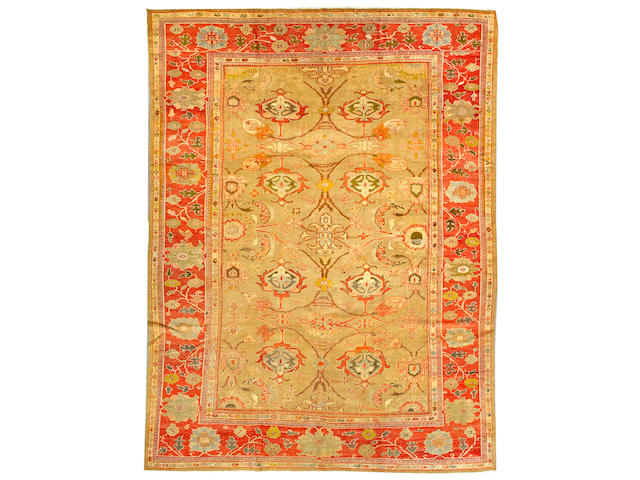 A Sultanabad carpet Central Persia, size approximately 10ft. 5in. x 14ft.
