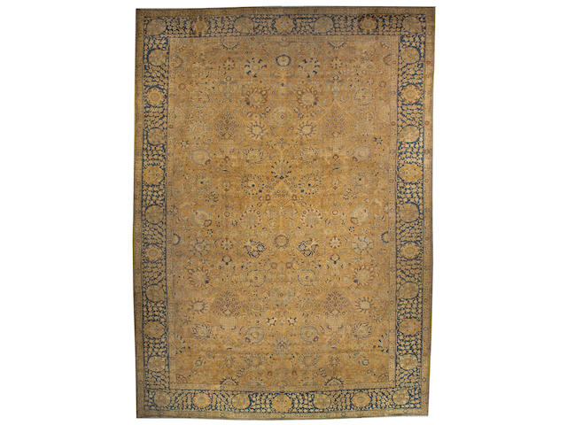 A Tabriz carpet Northwest Persia, size approximately 13ft. x 18ft. 5in.