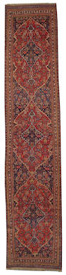 A Bidjar runner Northwest Persia, size approximately 3ft. 9in. x 18ft.