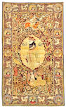 A Pictorial Kerman rug South Central Persia, size approximately 4ft. 7in. x 7ft. 8in.