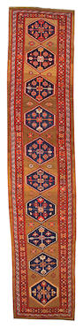 A Bidjar runner Northwest Persia, size approximately 3ft. 10in. x 17ft. 9in.