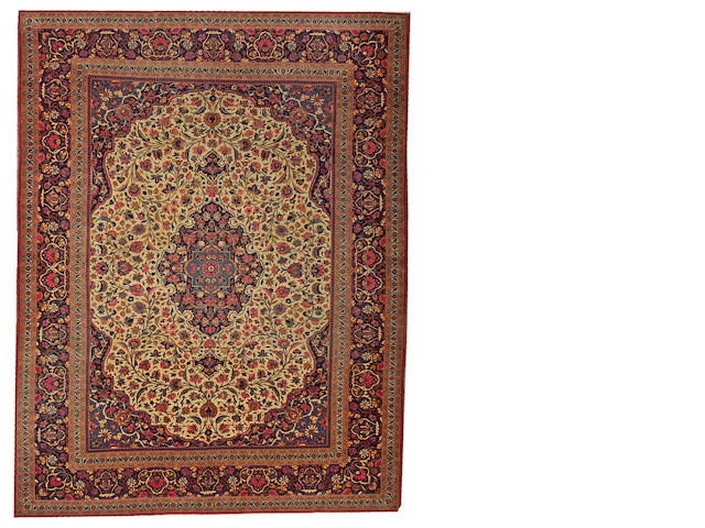 A Dabir Kashan carpet Central Persia, size approximately 7ft. 8in. x 10ft.