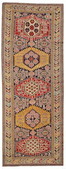 A Shirvan runner Caucasus, size approximately 4ft. 1in. x 10ft.