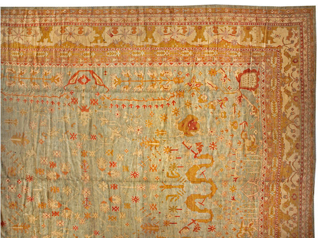 A Contemporary Oushak carpet Anatolia, size approximately 21 ft. x 30ft.