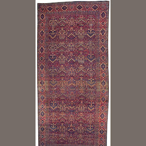 A Kerman carpet South Central Persia, size approximately 10ft. X 22ft.