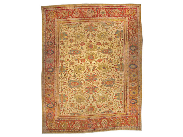 A Sultanabad carpet Central Persia, size approximately 13ft. x 116ft.