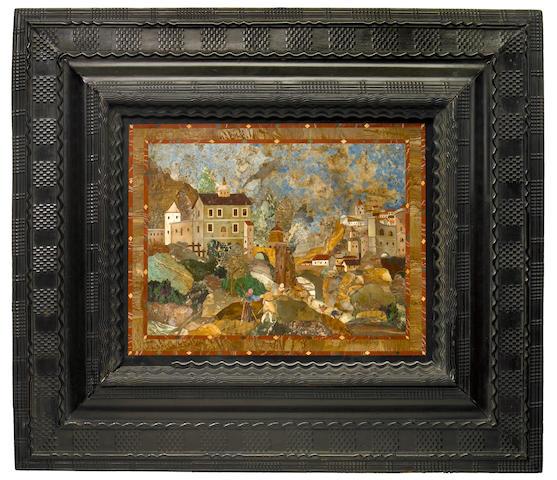A fine late Renaissance pietra dura panel  first quarter 17th century