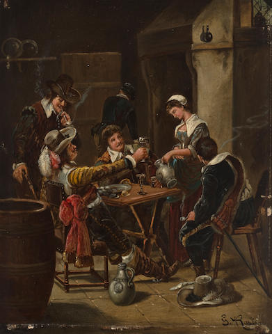Johann Gottlieb Rost (1810-1860) The life of a musketeer 10 1/2 x 8in