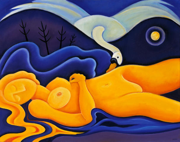 Angelea Perko Leda and the Swan