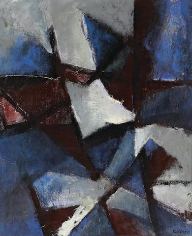 John Saccaro (1913-1981), Pleiades Suite, No.1, 1954, o/c, 38 x 32in