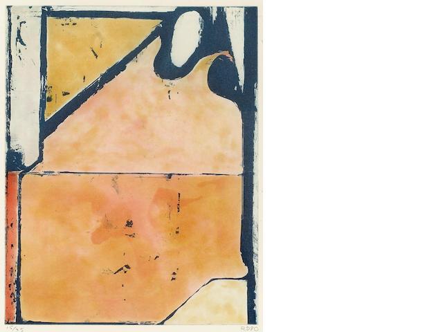 Richard Diebenkorn (American, 1922-1993); Blue Loop, from Eight Color Etchigs;