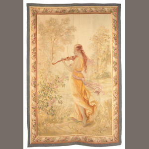 A pair of Aubusson tapestry panels . late 19th century