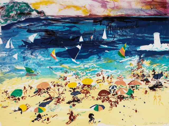 Malcolm Morley (British, 1931); Beach Scene;