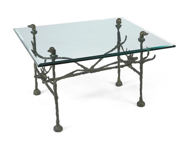 Diego Giacometti (1902-1985) Table Basse: Modèle aux cerfs et aux chiens  pre 1960