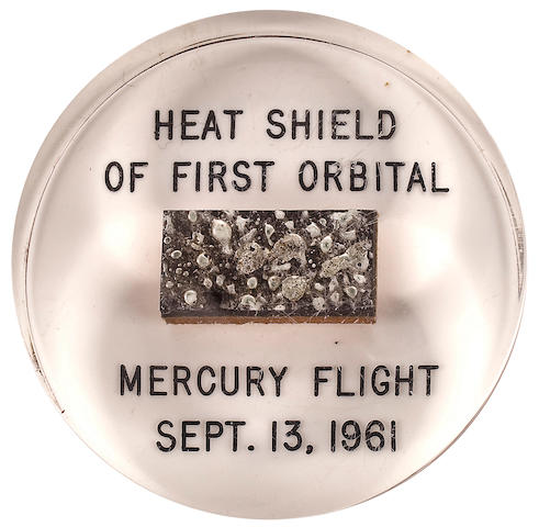 COOPER'S FLOWN MERCURY-ATLAS 4 HEAT SHIELD SEGMENT.