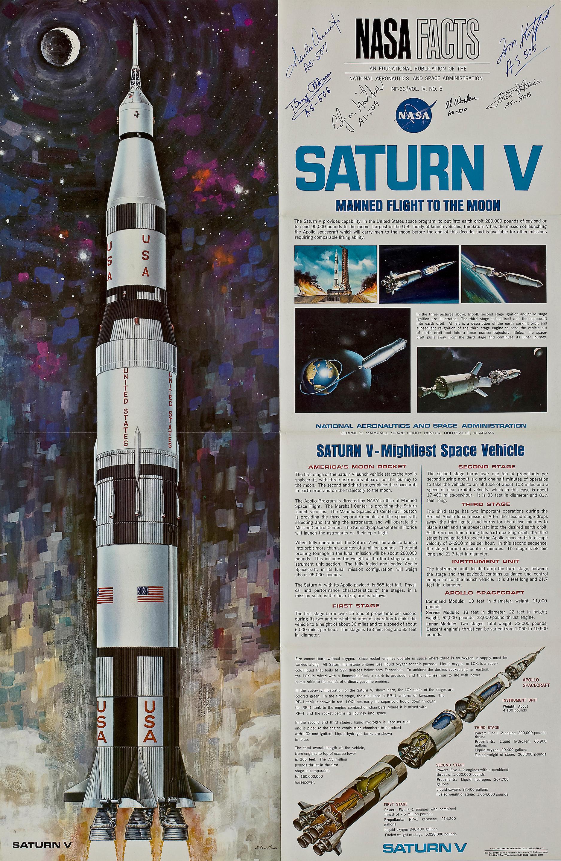 Saturn V F-1 Engine Blueprint from NASA Documents Apollo Rocket to the Moon