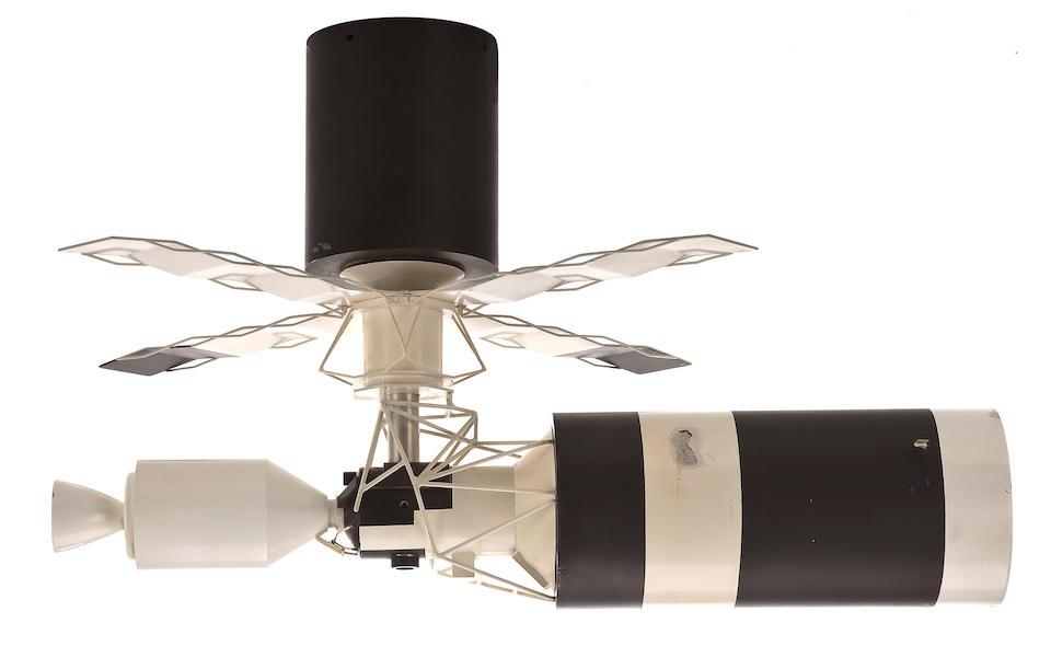 LARGE SKYLAB MODEL DESIGNED FOR THE ASTRONAUT SIMULATOR.