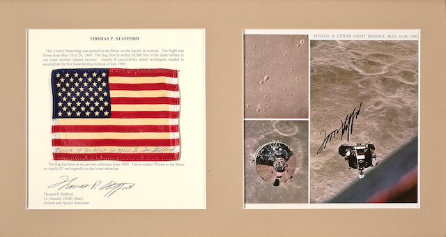 UNITED STATES FLAG CARRIED ON APOLLO 10.