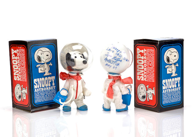SNOOPY ASTRONAUT DOLLS–SYMBOLS OF THE APOLLO 10 LM CREW.
