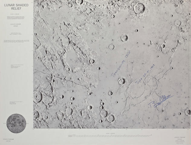 APOLLO 11 LANDING SITE CHART.