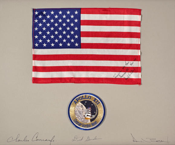 LARGE US FLAG CARRIED ON APOLLO 12.