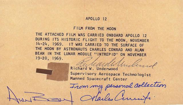 FLOWN APOLLO XII 70MM FILM SEGMENT.