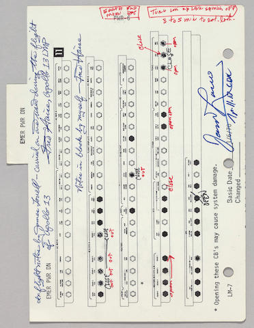 CRITICAL FLIGHT NOTES AND UPDATES BY LOVELL AND HAISE MADE DURING APOLLO 13.